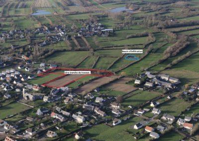 Projet lotissement Gouville - Vue aérienne zone 1ère tranche de travaux
